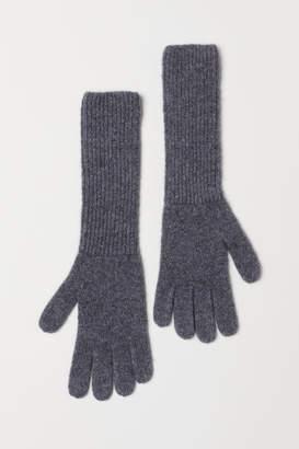 H&M Cashmere-blend Gloves - Gray