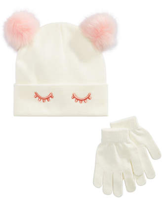 Berkshire Little & Big Girls 2-Pc. Sleeping Eye Hat & Gloves Set