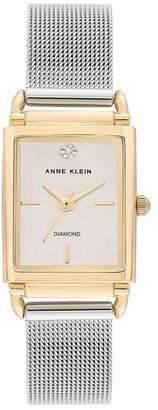 Anne Klein Women's Diamond Mesh Strap Watch, 21x39mm
