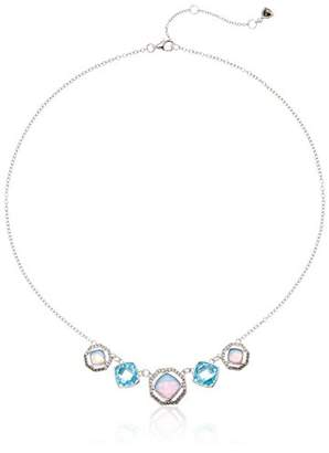 Judith Jack Sterling Silver and Opal Frontal Necklace