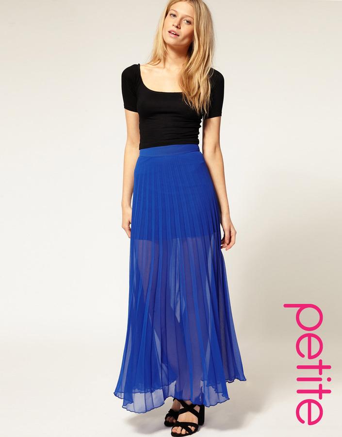 ASOS PETITE Pleated Maxi Skirt