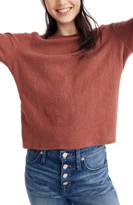 Madewell Puff Sleeve Mock Neck Top