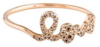 Sydney Evan 14K Diamond Love Ring