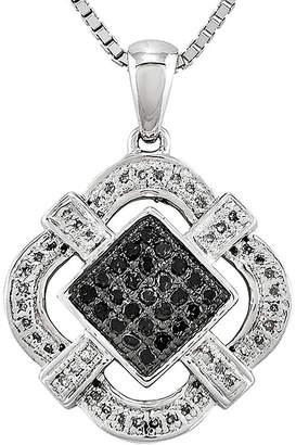 Black Diamond FINE JEWELRY 1/3 CT. T.W. White and Color-Enhanced Pendant Necklace