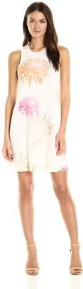 Calvin Klein Women's Chiffon Trapiz Dress in Floral Print