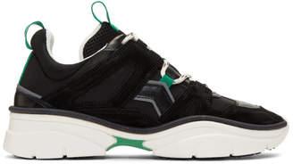 Isabel Marant Black and Green Kindsay Sneakers