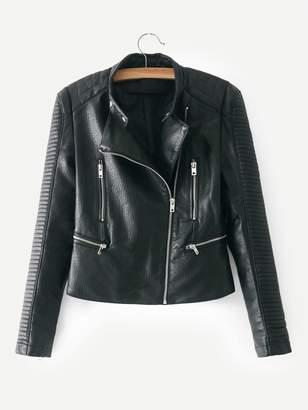 Shein Faux Leather Biker Jacket