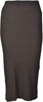 Enza Costa Rib Pencil Midi Skirt