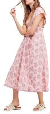 Free People Riakka Cotton Midi Dress