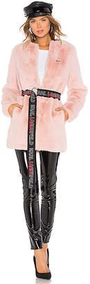 Karl Lagerfeld X KAIA Faux Fur Coat