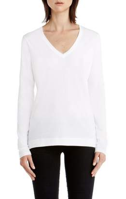 ADAM by Adam Lippes Pima Cotton Long Sleeve V-Neck T-Shirt