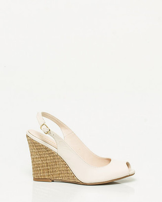 Le Château Leather Slingback Wedge