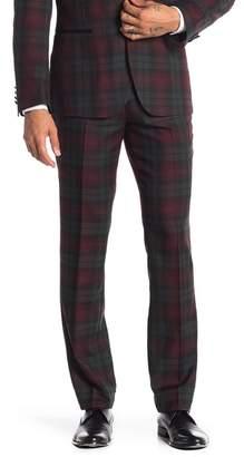 Paisley & Gray Earl Plaid Flat Front Tuxedo Pants