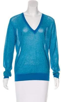 Joseph Metallic V-Neck Sweater