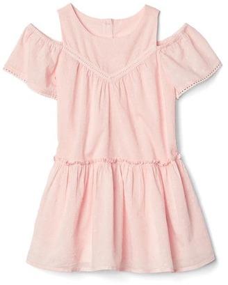 Swiss dot cold shoulder dress $34.95 thestylecure.com