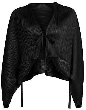 Pleats Please Issey Miyake Women's Tucked Bounce Jacket