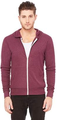 B.ella + Canvas Unisex Triblend Full-Zip Lightweight Hoodie - ,M