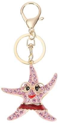 Jocestyle Crystal Marine Life Animal Charm Pendant Keychain Key Ring Car Key Holder