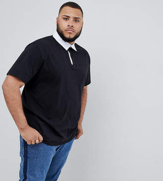 Asos Design DESIGN Plus relaxed fit rugby polo