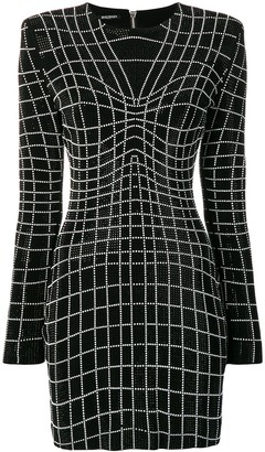 Balmain rhinestone embellished dress
