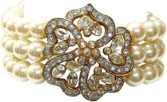 One Kings Lane Vintage Faux-Pearl & Crystal Enhancer Bracelet
