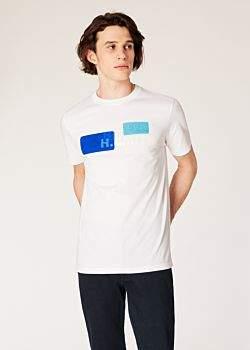 Men's White 'Harold Smith' Logo Cotton T-Shirt