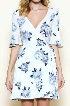 Solemio Floral Wrap Dress