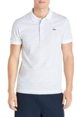 Lacoste Herringbone Cotton Polo