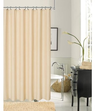 Dainty Home Crocodile Textured Fabric Shower Curtain
