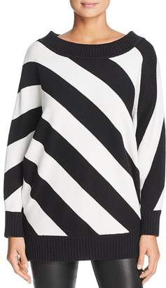 Kenneth Cole Striped Boat-Neck Sweater