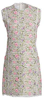 Giambattista Valli Women's Floral Flocked Tweed Shift Dress