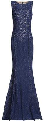 Michael Kors Fluted Corded Lace Gown
