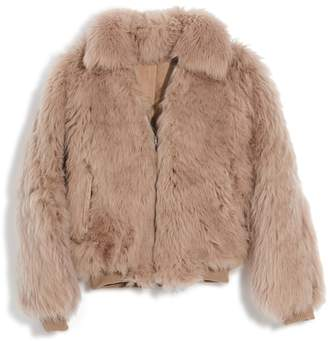 Madewell Genuine Shearling Mongolian Coat