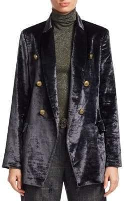Brunello Cucinelli Crushed Velvet Double Jacket