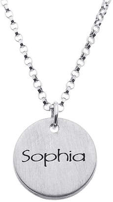FINE JEWELRY Personalized Sterling Silver Mini Engraved Name Disc Pendant Necklace