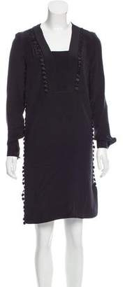 Derek Lam Silk Guipure Lace-Trimmed Dress w/ Tags