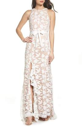 Jarlo Petal Lace Gown