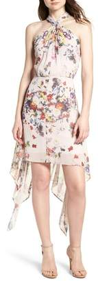 Bishop + Young BISHOP AND YOUNG Ana Floral Shark Bite Hem Halter Dress