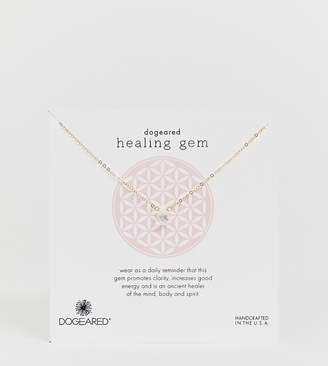 Dogeared healing gem necklace on gift card