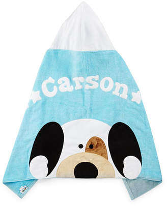 Boogie Baby Personalized Peek-a-Boo Puppy Hooded Towel, Blue