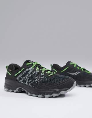 Saucony Running excursion tr12 gtx trail sneakers in black
