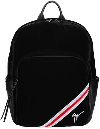 Giuseppe Zanotti Black Velour Backpack