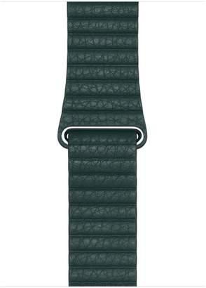 Apple 44mm Forest Green Leather Loop - Medium