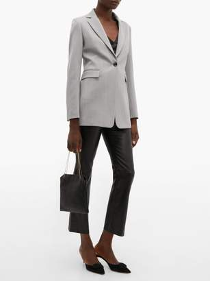 Joseph Lorenzo Single Breasted Wool Twill Blazer - Womens - Grey