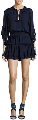 MISA Los Angeles Ximena Tiered Ruffled Mini Dress $317 thestylecure.com