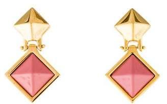 Fendi Resin Pyramid Stud Earrings