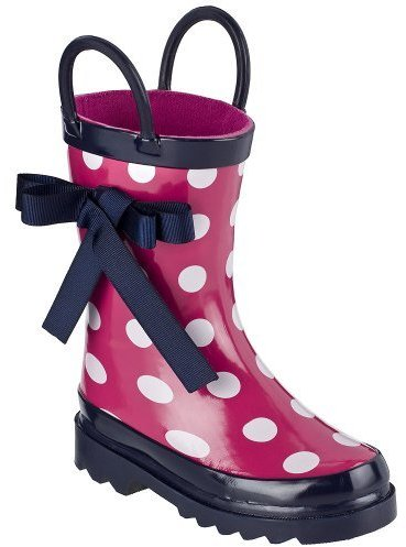 Kids' Ula Polka Dot Rainboot - Pink