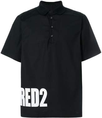 DSQUARED2 logo printed polo shirt
