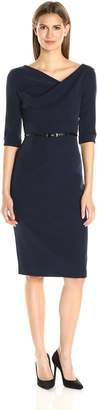 Black Halo Women's 3/ Sleeve Jackie O Dress