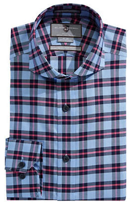 Black Brown 1826 Slim Fit Plaid Sport Shirt